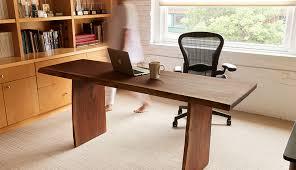 david stine walnut live edge slab desk