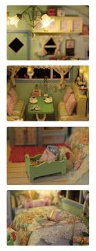 homemade doll furniture. Diy Doll House Wooden Houses Miniature Dollhouse Furniture Kit Toys For Children Gift Time Travel Homemade M
