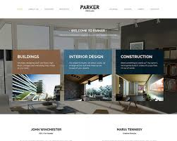 Interior Design Or Architecture Impressive Parker Architecture Interior Design WordPress Theme