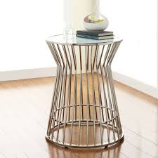 drum accent table for fabulous attractive drum accent table tables hammered brass drum table