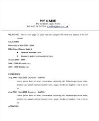 One Page Resume Template Word Resume Sample Source