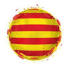 La Bandera Redonda Del Grunge De Cataluña Con Salpica En Color De La Bandera  Ilustración del Vector - Ilustración de mancha, blanco: 136726893