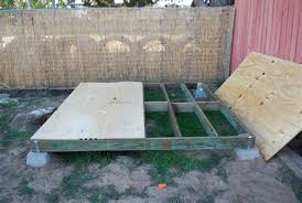 inspiring simple shed foundation