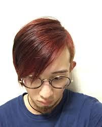 赤の色落ち激しいゾ白目マニパニ 赤髪 メンズヘア メンズ