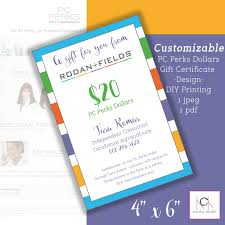 Best Solutions Of Etsy Gift Certificate Template In Rodan And Fields
