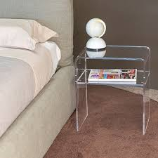 acrylic perspex furniture. acrylic bedside table 40x30 h45 perspex furniture r