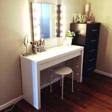 black makeup desk with drawers vanity table side dupe white superb and