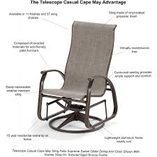 Home Decor Bautiful Outdoor Swivel Glider Chair Plus Telescope