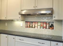 White Stone Kitchen Backsplash Backsplashes Stick Glass Mosaic Classic Kitchen Backsplash