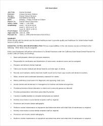 Sample Dental Assistant Job Description 8 Examples In Pdf