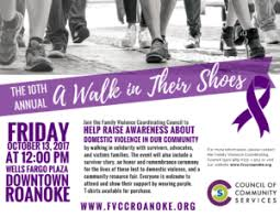 """10th Annual Domestic Violence Awareness Event, """"A Walk in Their Shoes"""" -  Council of Community Services"""