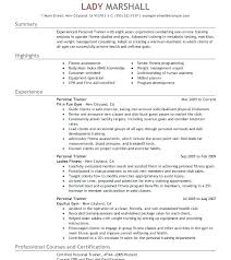 Personal Trainer Resume Magnificent Corporate Resume Example Trainer Resume Sample Sample Resume For