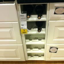 wine rack built in under cabinet build kitchen