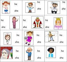 Your kindergartener will not only practice matching. Personal Pronouns Worksheet For He And She Pronoun Worksheets Personal Pronouns Kindergarten Worksheets