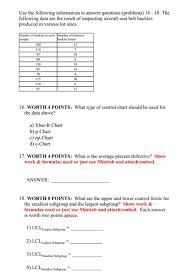 Solved Plz Answer 16 18if Using Minitab Plz Upload Chart