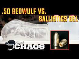 50 Beowulf Vs Ballistics Gel 5k Fps Slow Motion