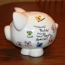 personalized piggy banks great homemade baby shower gift