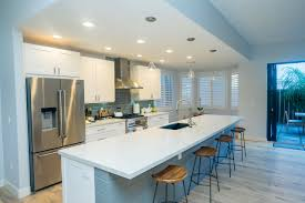 spacious kitchen island plans with seating. Kitchen Island, Creating A More Spacious With Bar Seating. The Island Has Blue Shiplap Accent Matching Subway Tile Backsplash Plans Seating