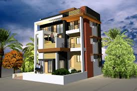 free single floor exterior elevation design house front 3 plan