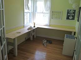l shaped desk for home office. Delighful Desk 15 DIY L Shaped Desk For Your Home Office Corner Scraproom With Regard To  Diy Plan 19 Throughout