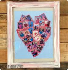 diy crafts make a heart photo collage with family pictures