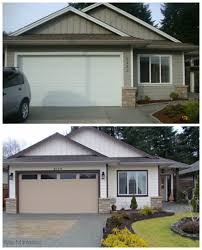 Garage Door garage door exterior trim photographs : Before and after exterior color palette on a small ranch style ...