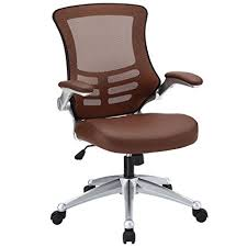 modern ergonomic office chairs. Exellent Modern Modway Attainment Mesh Back And Tan Vinyl Modern Office Chair With FlipUp  Arms  Throughout Ergonomic Chairs