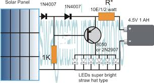 simplest automatic led solar light circuit solar garden light the above diagram also be built in the following manner it looks more sensible now as the resistor is removed from the emitter for facilitating