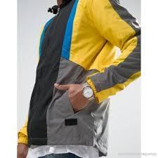 fila vintage jacket. fila vintage | black hooded jacket with back logo panel 944109 t