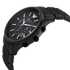 emporio armani ar1452 matte black ceramica chronograph watch emporio armani ar1451 side