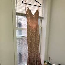 Alamour The Label Size Chart Yassmine Luxe Rose Gold Evening Gown Nwt