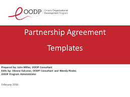 Oodp Partnership Agreement Forms | Sage