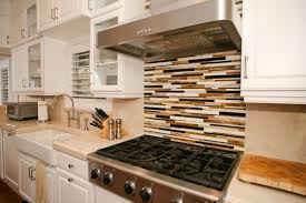 Charming Red Oak Wood Cordovan Amesbury Door Staten Island Kitchen Cabinets  Backsplash Mosaic Tile Porcelain Ceramic Countertops