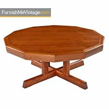 danish modern coffee table solid teak