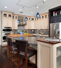 island view in gallery inner fire pendant lights in blue brighten up this kitchen space