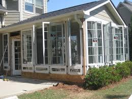 Casement windows in a Sunroom traditional-sunroom