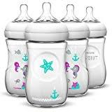Avent Decorated Bottles Amazon Avent BPA Free 100 Pack 100 Ounce Decorated Natural 42