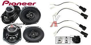 pioneer ts a6886r 6x8 speakers with wiring harness fits ford 2 pairs wiring harness for pioneer stereo at Wiring Harness For Pioneer To Ford