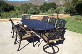 9pc patio dining set cast aluminum luxury outdoor furniture seats 8 rust free
