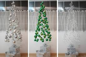 Hanging Ornaments Tree - Cheap DIY Christmas Decor Ideas