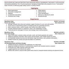 Data Entry Clerk Resume Sample Ideas For The House Pinterest In