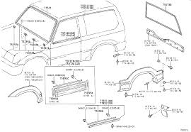 TOYOTA LAND CRUISER 90LJ90L-GJMRS - BODY - MOULDING | Japan Parts EU