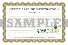 Hard Drive Destruction Certificate Template Costumepartyrun