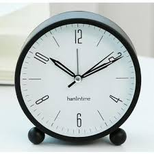 china small round simple style og type table desk alarm clock with nightlight