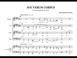 ave verum corpus sheet music ave verum corpus with sheet music by jose gonzalez granero youtube