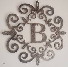 vibrant scroll wall decor family initial monogram inside a metal with b letter art black