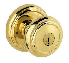 Baldwin Prestige Alcott Bed/Bath Knob in Polished Brass ...