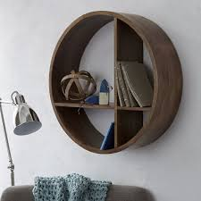 Circular Floating Shelves Mesmerizing Shape Wall Shelf West Elm