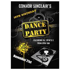 Dance Invitation Ideas 16th Birthday Party Invitation Urban Grunge Dance Party