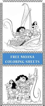 Happy Birthday Color Sheet Free Printable Moana Coloring Pages